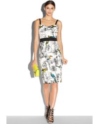 Milly Tropical Toile Bustier Strap Dress multicolor - Lyst