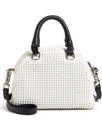 Christian Louboutin 'Small Panettone' Studded Calfskin Dome Satchel white - Lyst