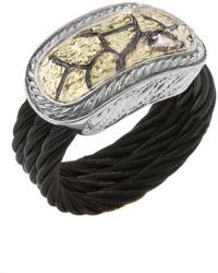 Charriol Women'S Sahara 18K Yellow Gold Black Ss Diamond .07Tcw Ring - Lyst