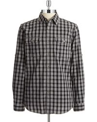 DKNY Plaid Sports Shirt - Lyst