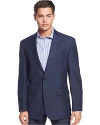 Calvin Klein Linen-Blend Slim-Fit Sport Coat blue - Lyst