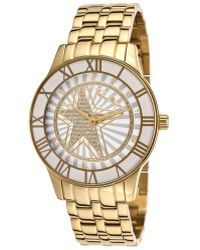 Thierry Mugler Women'S Gold-Tone Stainless Steel White Dial - Lyst