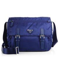 Prada Vela Two-Buckle Messenger Bag - Lyst