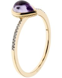 Links of London - Luna Gems Amethyst And Diamond Ring - Lyst