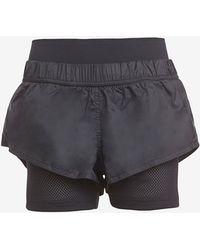 Adidas By Stella McCartney Black Running Shorts - Lyst