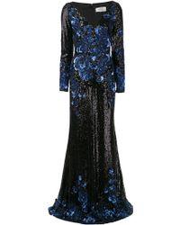 Badgley Mischka Sequin Gown - Lyst