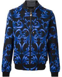 Versace Hooded Jacket - Lyst