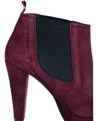 Ganni Fiona Suede Heeled Shoe Boot - Lyst