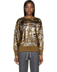 Isabel Marant Olive and Gold Camo Sequined Hamilton Sweatshirt - Lyst