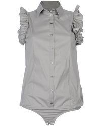 Patrizia Pepe Sleeveless Shirt - Lyst