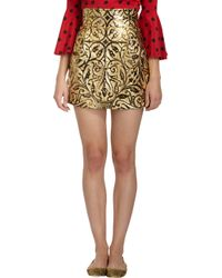 Dolce & Gabbana Vineembossed Mini Skirt - Lyst