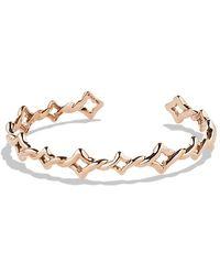 David Yurman Venetian Quatrefoil Singlerow Cuff Bracelet in Rose Gold - Lyst