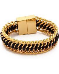 Bex Rox - Lola Cuff Bracelet Goldblack - Lyst