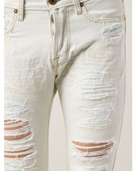 Bliss and Mischief - Distressed Skinny Jeans - Lyst