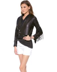 April, May - Fellow Fringy Jacket Black - Lyst