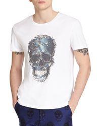 Alexander McQueen Skull Print Cotton Tee white - Lyst