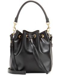 Saint Laurent Emmanuelle Large Leather Bucket Bag black - Lyst