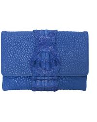 Victoria Horning Blue Clutch - Lyst