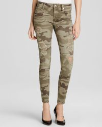True Religion Jeans - Halle Mid Rise Super Skinny In Destroyed Camo - Lyst
