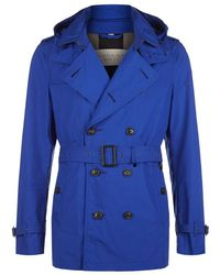 Burberry Brit - Hooded Trench Coat - Lyst