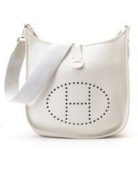 Hermès HermãˆS White Evelyne Shoulder Bag white - Lyst