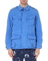 Ralph Lauren Dunkdyed Jungle Jacket Colby Blue - Lyst