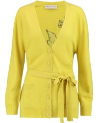 Emilio Pucci - Intarsia Wool And Cashmere-blend Cardigan - Lyst
