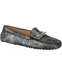 Tod's Gommino Brooch Suede Driving Shoe - Lyst
