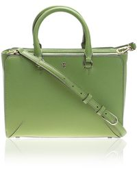 Tory Burch - Green Robinson Small Leather Bag - Lyst