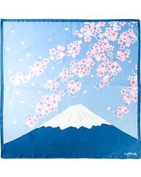 Blue Blue Japan - Cherry Blossom Print Square Pocket - Lyst