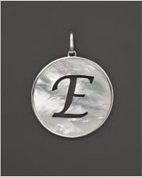 Ippolita - Sterling Silver Large Initial Charm In Mother Of Pearl - Lyst