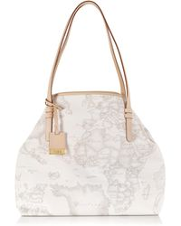 Alviero Martini 1a Classe Geo Printed Large 'New Basic' Shoulder Bag - Lyst