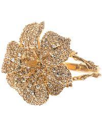 Alexander McQueen Crystalembellished Flower Bracelet - Lyst