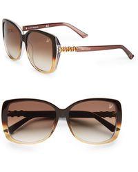 Swarovski - Ombré Rectangular Sunglasses/Brown - Lyst