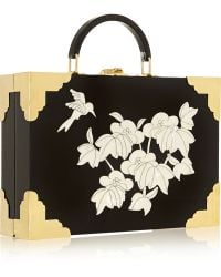 Charlotte Olympia Jasmine Perspex and Motherofpearl Clutch - Lyst