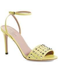 Gucci 'Coline' Studded Ankle Strap Sandal - Lyst