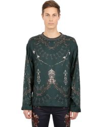 Dolce & Gabbana Silk Habotai  Cotton Sweatshirt - Lyst