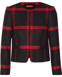 Alice + Olivia Kidman Checked Wool and Cashmereblend Jacket - Lyst