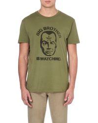 Obey Big Brother Face Tshirt Army - Lyst