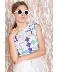 Nasty Gal Emilio Pucci Angles Crop Top - Lyst