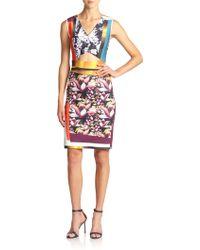 Clover Canyon Printed Neoprene Cutout Dress - Lyst