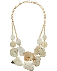 Panacea White Howlite Double-Strand Statement Necklace - Lyst