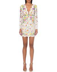 Emilio Pucci Embellished Floral Dress - Lyst