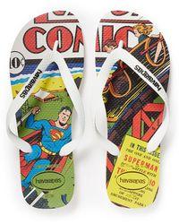 Havaianas 'Linha Herois' Superman Print Flip Flops multicolor - Lyst