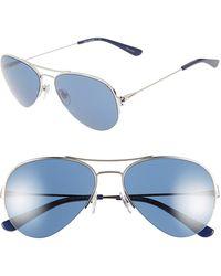 Tory Burch 55Mm Aviator Sunglasses - Lyst
