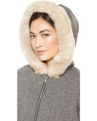 Clu Faux Fur Hooded Jacket Black - Lyst