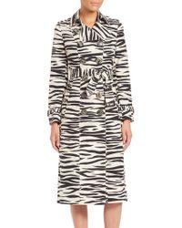 Burberry Prorsum   Zebra-print Trenchcoat   Lyst