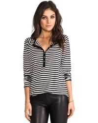 The Lady & The Sailor - Henley Top In Black - Lyst