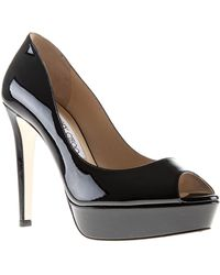 Jimmy Choo Black Crown Pumps - Lyst