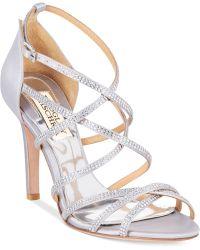 Badgley Mischka Meghan Evening Sandals - Lyst